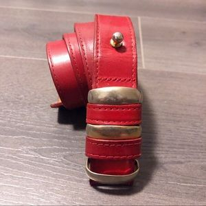 Carlise red leather accent belt!